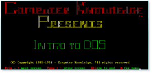 DOS 001 Title Screen