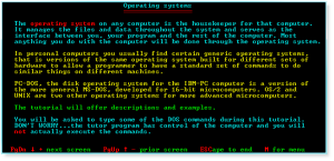 DOS 002 Operating Systems