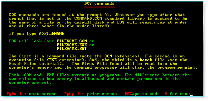 how to use ms dos commands