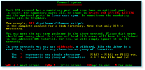 DOS 011 Command Syntax