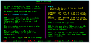 DOS 012 Disk Directory