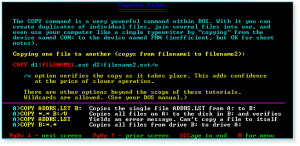 DOS 018 Copying Files