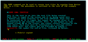 DOS 020 COPY CON to Create a TXT File