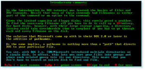Advanced DOS 002 Introductory Comments