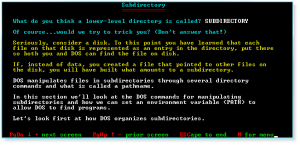 Advanced DOS 003 Subdirectory