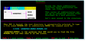 Advanced DOS 009 Pathnames
