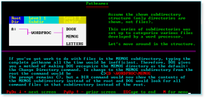 Advanced DOS 010 Pathnames
