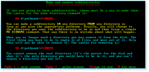 Advanced DOS 011 MD and RD Commands