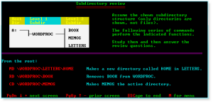 Advanced DOS 015 Subdirectory Review