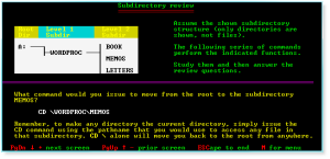 Advanced DOS 016 Subdirectory Review