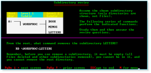 Advanced DOS 017 Subdirectory Review