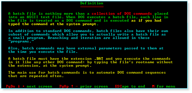 DOS Batch Files - Computer Knowledge