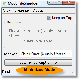 Moo0 Minimized Mode